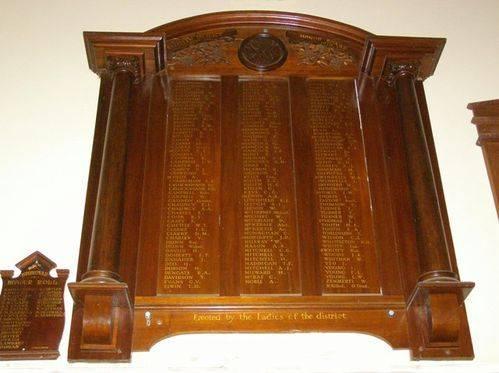 WW1 Honour Board : 27-03-2014