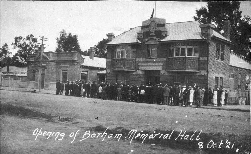 Opening of Barham Memorial Hall - State Library of NSW FL1703486