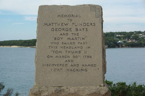Bass + Flinders Memorial Inscription