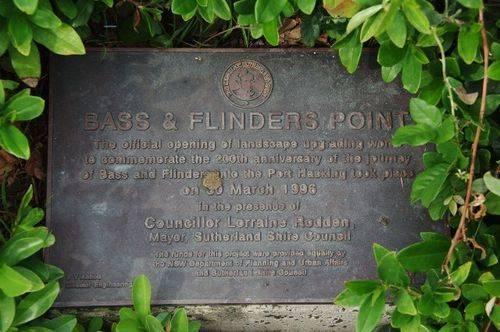 Bass + Flinders Point Plaque