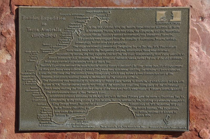 Baudin Expedition Plaque : 02-August-2015