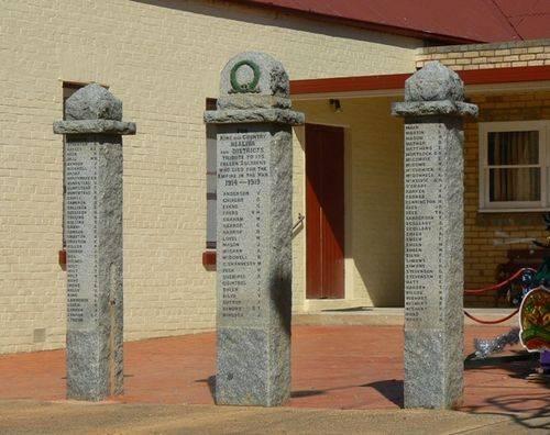 Bealiba War Memorial : 28-December-2010