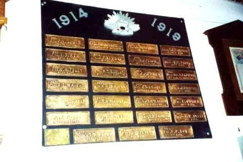 Bendigo East State School Memorial Plaques