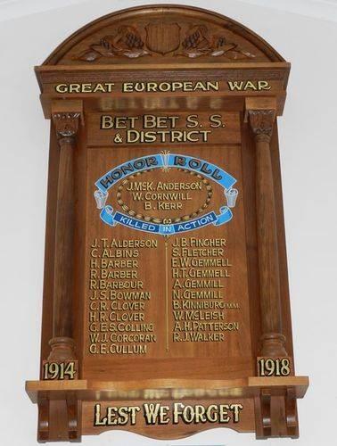 Bet Bet State School Honour Roll : 07-June-2013