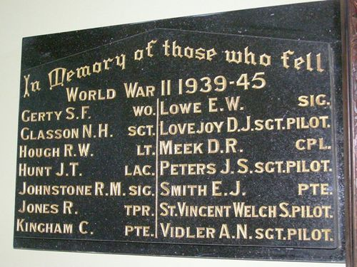 Blayney WW2 Honour Roll : 25-03-2014