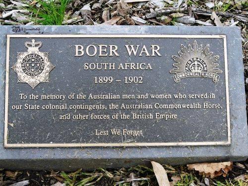 Boer War Plaque : 25-September-2011