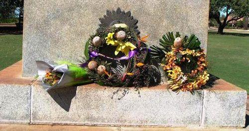 Broome War Memorial Wreaths