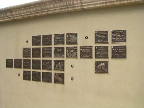 Memorial Wall Closeup / March 2013
