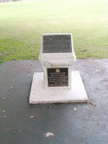 Bulimba WW2 Memorial Plaque Plinth