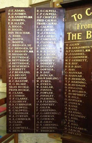 Bungaree Shire Honour Roll 3 : November 2013
