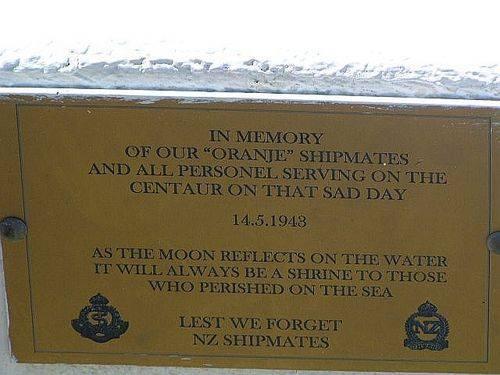 Caloundra AHS Centaur Memorial Oranje Plaque