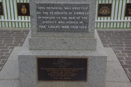 Candelo War Memorial Front Inscription : December 2013