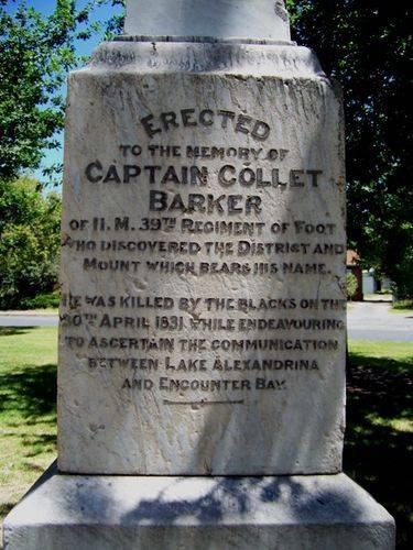 Captain Collet Barker : 14-January-2011
