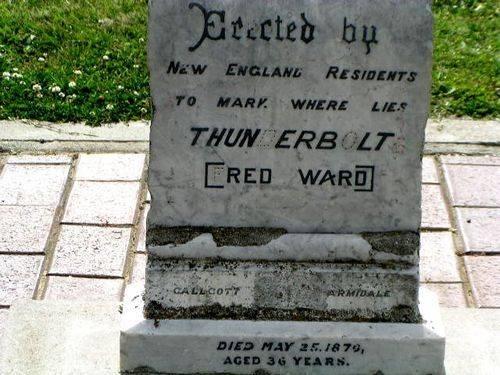 Captain Thunderbolt Grave Inscription