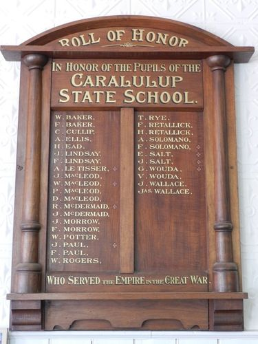 Caralulup State School Honour Roll : 15-March-2013