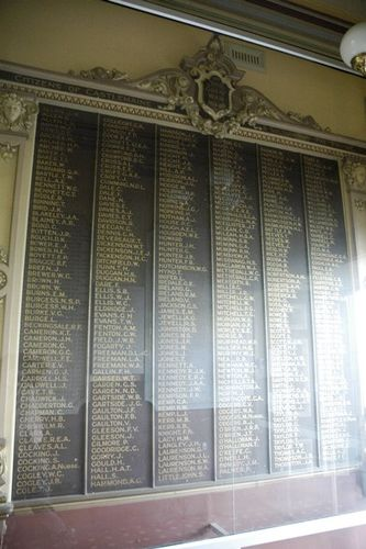 Castlemaine Town Hall Honour Roll : 09-June-2013