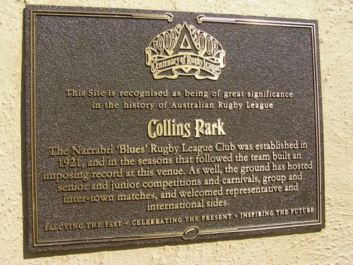Centenary of Rugby League Plaque : 11-August-2014