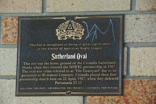 Centenary of Rugby League Plaque