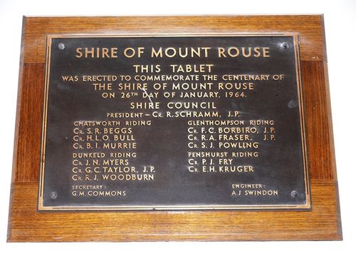 Centenary of Shire of Mount Rouse : 13-June-2013