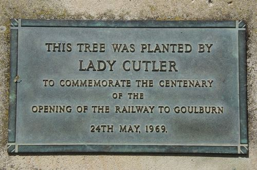 Railway Centenary Plaque : June 2014