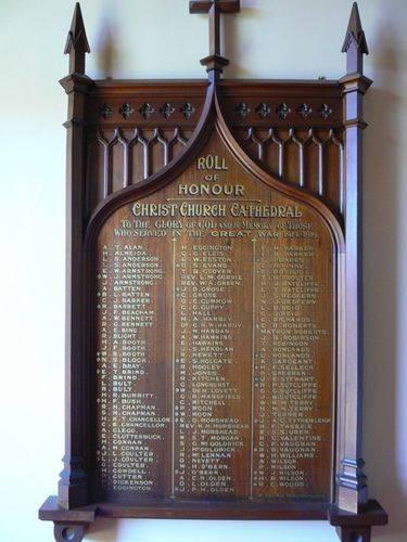 Christ Church World War 1 Honour Roll
