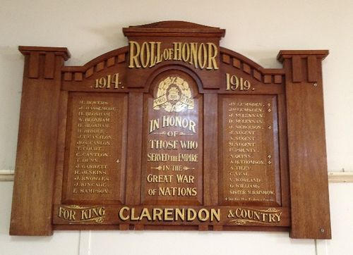 Clarendon Honour Roll : November 2013