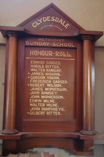 Clydesdale Methodist Sunday School Honour Roll : 08-June-2013