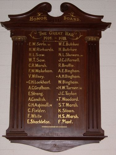 Congregational Church Memorial Board : 08-July-2011