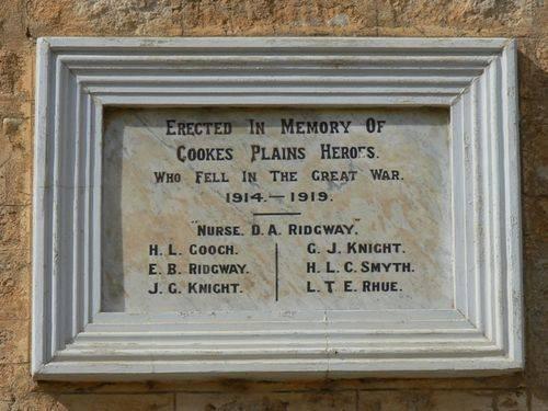 Cooke Plains Memorial Hall