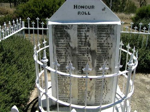 Cooyar War Memorial Honour Roll