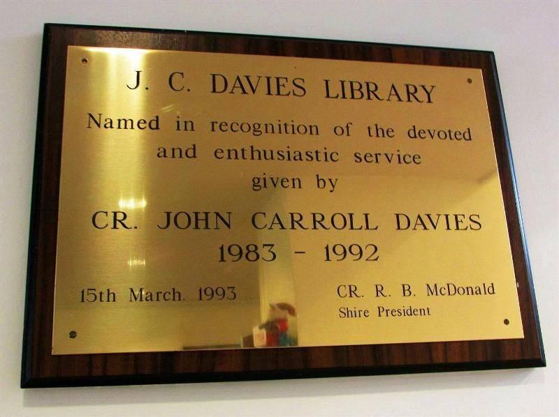 Davies Plaque : 15-December-2014