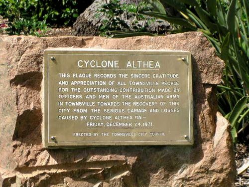 Cyclone Althea Plaque