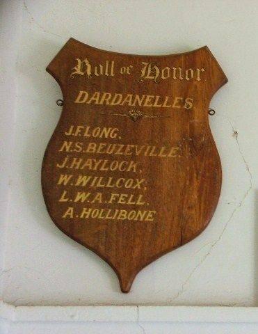 Dardanelles Roll of Honour