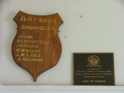 Dardanelles Roll of Honour