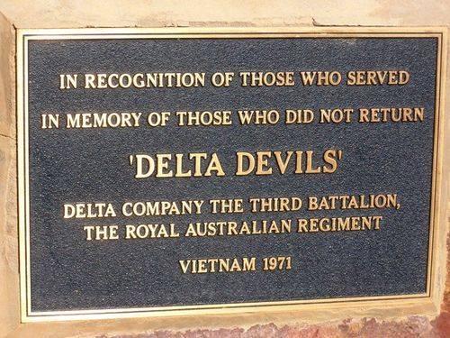 Delta Company Plaque : 05-August-2014