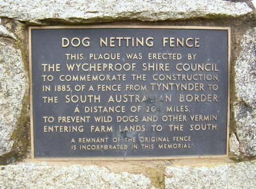 Dog Netting Fence Plaque : 11-09-2013