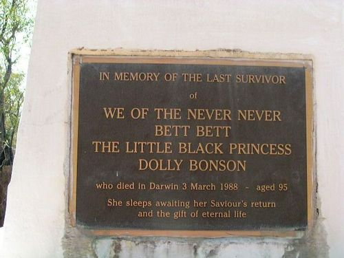 Dolly Bonson Inscription Plaque