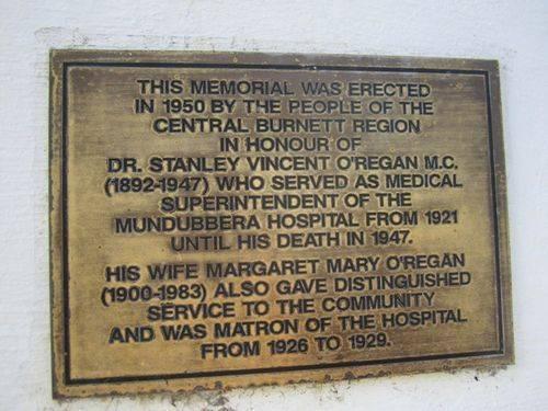 O'Regan Plaque : 16-10-2012