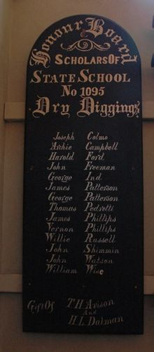 Dry Diggings State School Honour Roll : 08-June-2013