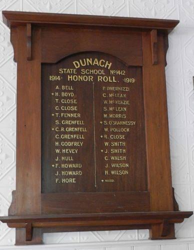 Dunach State School Honour Roll : 15-March-2013