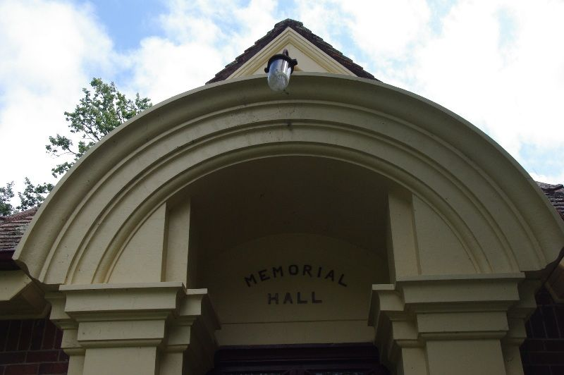 Memorial Hall Detail : 15-March-2015