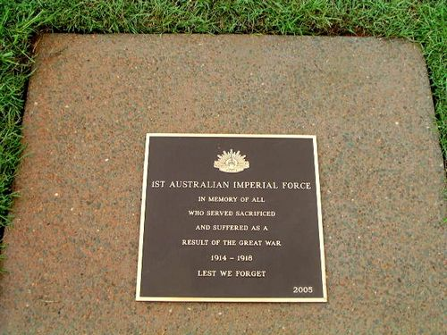 First Australian Imperial Force Plaque