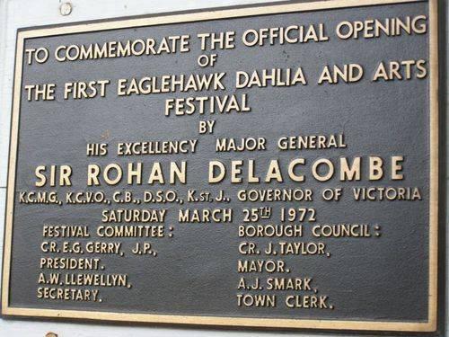First Dahlia & Arts Festival Plaque : 29-April-2014