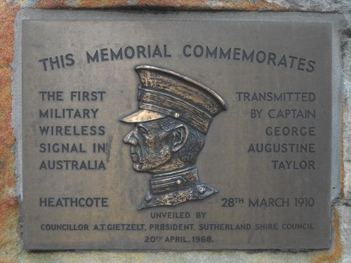 First Military Wireless Signal Inscription Plaque