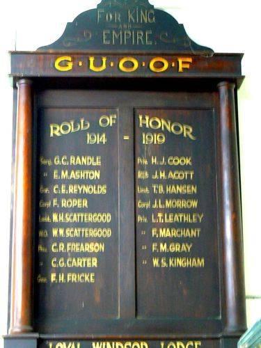 GUOOF Honour Roll Nov 2009