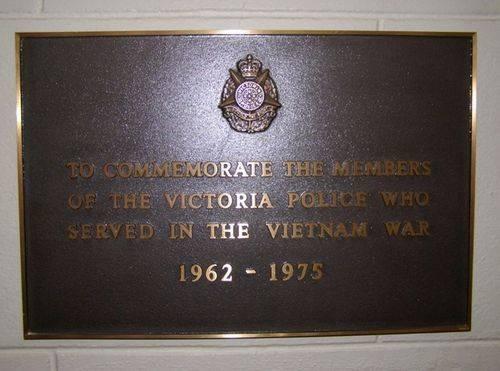 Police Vietnam War Plaque : 16-04-2014