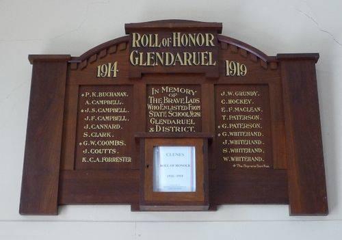 Glendaruel Roll of Honour : 20-March-2011