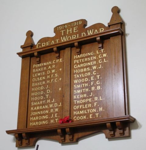 Glenelg Uniting Church Bath Street World War One Honour Board : 20-December-2012