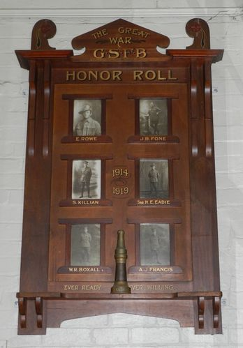Golden Square Fire Brigade Honour Roll : 01-March-2013