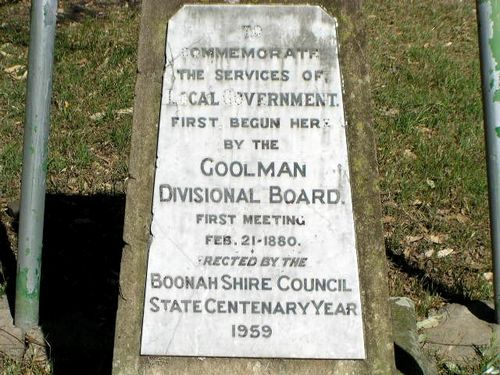Goolman Divisional Board Inscription Closeup
